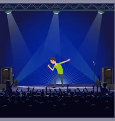 music performance emotional concert of singer vector image