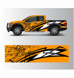 Offroad vehicle wrap design pickup truck decal vector