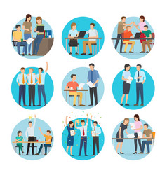 people at work start up set vector image