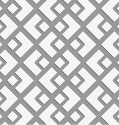 Perforated small and big diamond vector