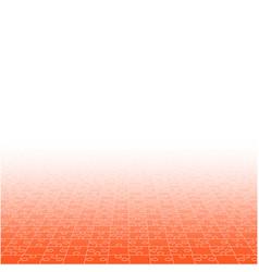 Perspective orange puzzles pieces - jigsaw vector