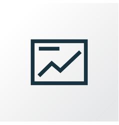 presentation outline symbol premium quality vector image