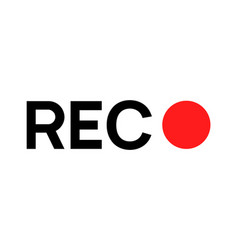 recording sign icon red logo camera video vector image