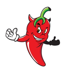 Red-chili-devil vector