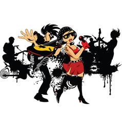 Rock band cartoon vector