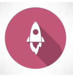 Rocket icon vector image