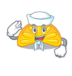 Sailor orange jelly candy character cartoon vector