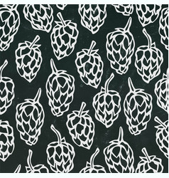 Seamless with hops beer pattern isolated vector