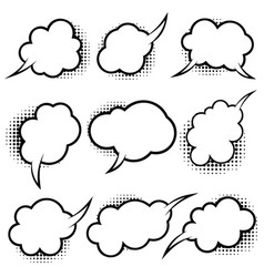 set empty comic style speech bubbles with vector image