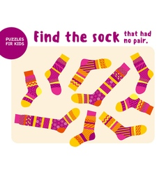 Set of cool warm striped socks Kid mind game in vector
