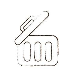Sketch draw trash can web garbage information vector
