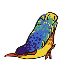 sketch of bird watercolor vector image