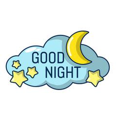 Sleep icon cartoon style vector