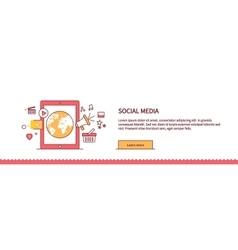 Social Media Web Page Design Flat vector image