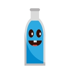 Soda bottle glass icon vector