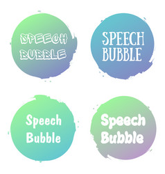 Speech bubbles handwritten word with color circle vector