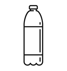 Survival water bottle icon outline style vector