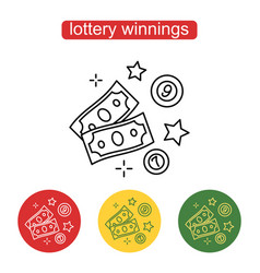 The money icon the concept of a lottery prize vector
