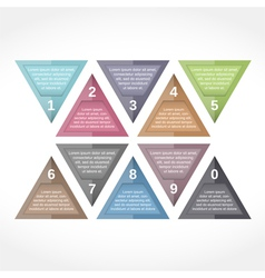Triangle Design Elements with Numbers vector