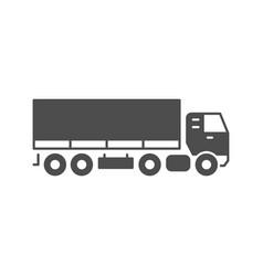 truck trailer glyph icon or cargo vehicle concept vector image