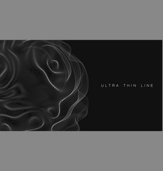 ultra thin line fluid geometry dynamic vector image