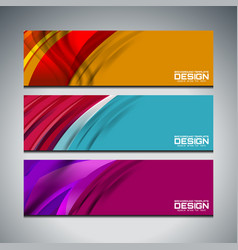 web banner design vector image