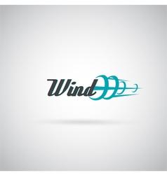 wind label vector image