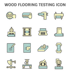 wood flooring material testing icon set design vector image