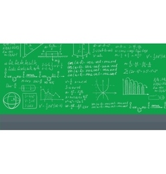 Background of white blackboard with mathematical vector image vector image