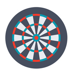 dartboard for darts game vector image