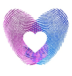 Finger print of man and woman in love vector