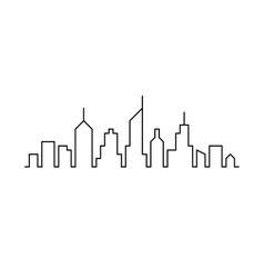 Line sketch cityscape design vector image
