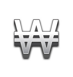 won 3d sign isolated vector image