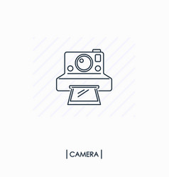 Camera outline icon isolated vector