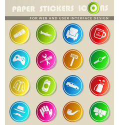 fathers day simply icons vector image