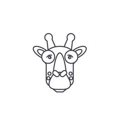 giraffe head line icon sign vector image vector image