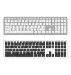 modern computer keyboards vector image