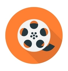 Film reel flat icon vector image vector image
