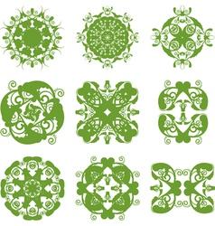 floral symbol vector image