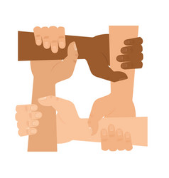 hands people help icon vector image