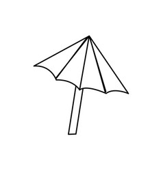line nice umbrella open to protect of sun vector image vector image