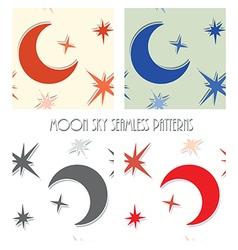 moon star sky seamless vector image vector image