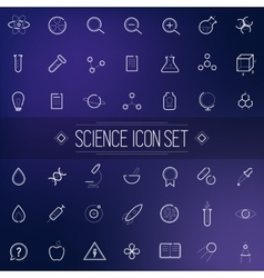 Set Science Physics Chemistry Medicine Trendy Icon vector image vector image