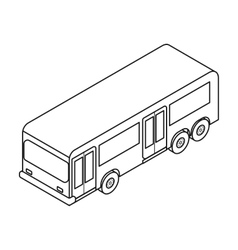 Bus icon in outline style isolated on white vector image