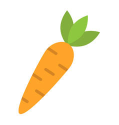 carrot flat icon vegetable and food diet sign vector image vector image