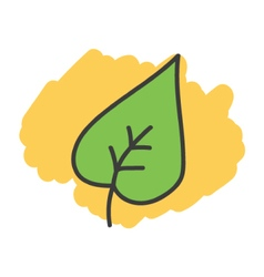 Cartoon doodle leaf vector image vector image