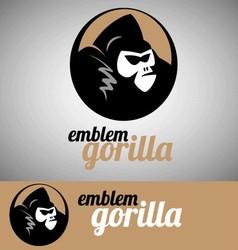 gorilla emblem vector image vector image