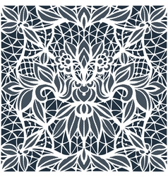 Lace cutwork vector image