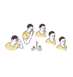 a sickly condition headache high vector image