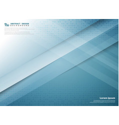 Abstract gradient blue color technology template vector